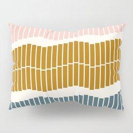 Geometric Piano Keys Pillow Sham