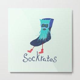 Sockrates Metal Print