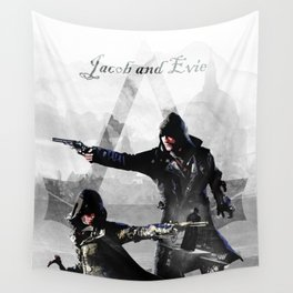 Jacob and Evie Frye Double Exposure Wall Tapestry