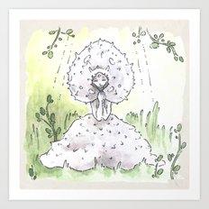 Empire of Mushrooms: Lycoperdon perlatum Art Print