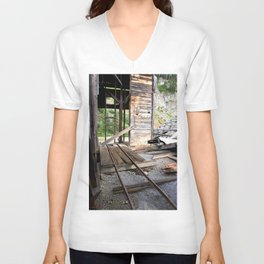Exploring the Longfellow Mine of the Gold Rush - A Series, No. 8 of 9 Unisex V-Neck