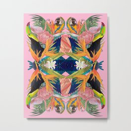 Tropical Kaleidoscope Metal Print