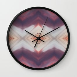 Hot Orange Magenta Diamond w/ Violet Wall Clock