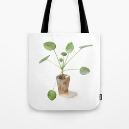 Pilea. Chinese money plant. Tote Bag