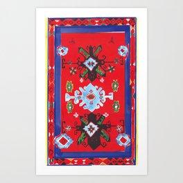 Caucasian rug Art Print