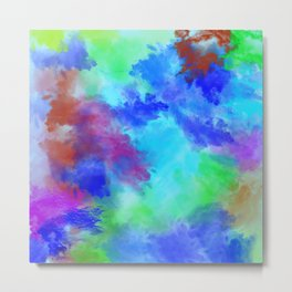 Watercolor Painting Abstract Art Metal Print