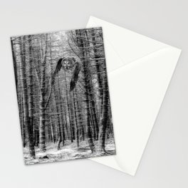 owl in the woods Stationery Cards