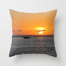Cayman Sunrise Throw Pillow