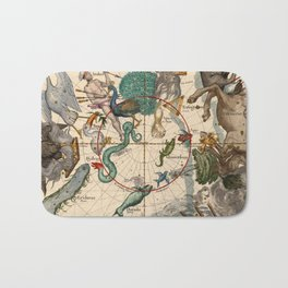 Constellation Chart 1693f Bath Mat