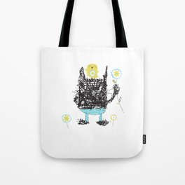 Black cats dig velour! Tote Bag