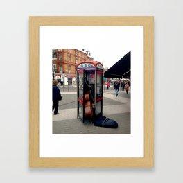 Get me my agent Framed Art Print