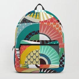 llama geo squares Backpack