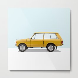 Yellow Range Rover Metal Print