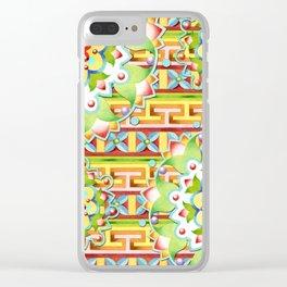 Fiesta Rainbow Mandala Clear iPhone Case