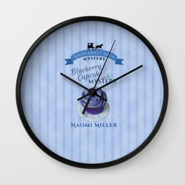 Blueberry Cupcake Mystery Wall Clock