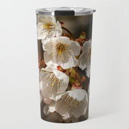 White Cherry Blossom Travel Mug