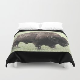 The Great American Bison Duvet Cover