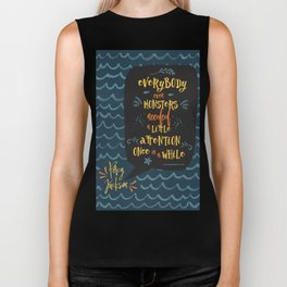 Everybody--even monsters--needed a little attention once in a while. Percy Jackson Biker Tank