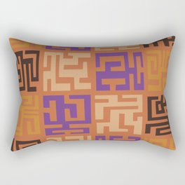 African Tribal Pattern No. 45 Rectangular Pillow