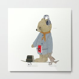 skate bear Metal Print