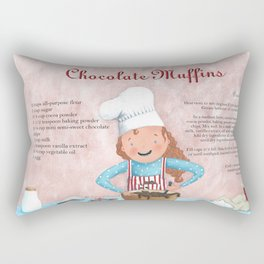 Chocolate Muffins Rectangular Pillow