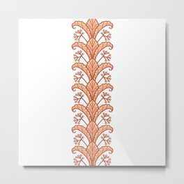 Autumn Leaves and Fruits Illustration Metal Print