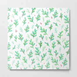 Under the Mistletoe Metal Print