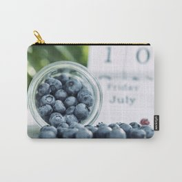 Wild Bluebeeries in Glass for kitchen Carry-All Pouch