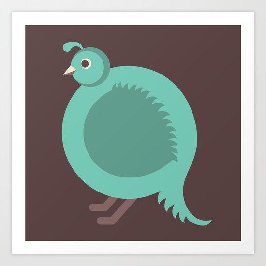 Letter Q // Animal Alphabet // Quail Monogram Art Print