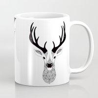 deer Mugs featuring Deer by Art & Be