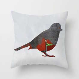 Little Garden Bird Throw Pillow