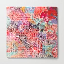 Fullerton map California painting 2 Metal Print
