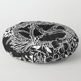 Pentacle Wreath Witchy Pagan Goth Floor Pillow