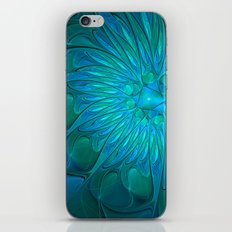 Floral in Sea Colors iPhone Skin