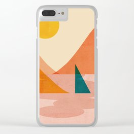 Abstraction_Lake_Sunset Clear iPhone Case