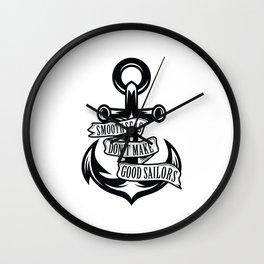 Smooth Seas Wall Clock