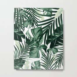 Tropical Jungle Leaves Pattern #4 #tropical #decor #art #society6 Metal Print