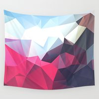 playstation Wall Tapestries featuring Polygonal by eARTh