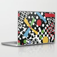 tape Laptop & iPad Skins featuring Ticker Tape by Patricia Shea Designs