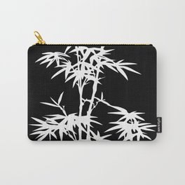 Black and White Bamboo Silhouette Carry-All Pouch