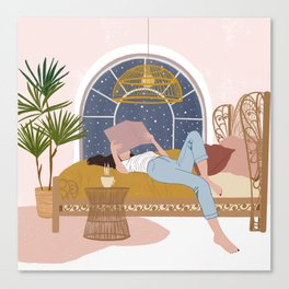 Cosy Winter Nights Canvas Print