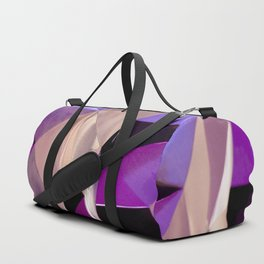 Abstract Geometric Purple Print Duffle Bag