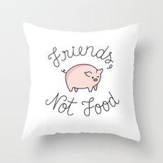 Friends, Not Food Throw Pillow