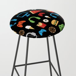 Video Game Party Snack Pattern Bar Stool