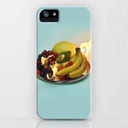 Burning Fruits iPhone Case
