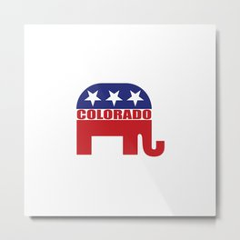 Colorado Republican Elephant Metal Print