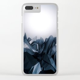Abstract moon surface. Clear iPhone Case