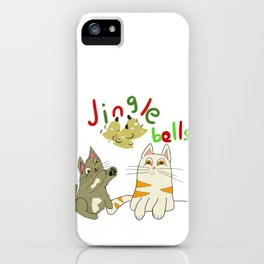 jingle bell kittens iPhone Case