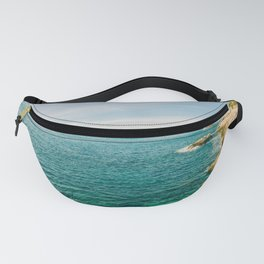 Seacoast of Cap d'Ail in a sunny winter day Fanny Pack