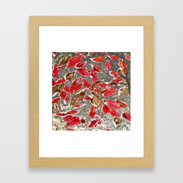 Softly Falling Framed Art Print